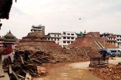 Πλατεία Durbar Basantapur μετά από το σεισμό Στοκ φωτογραφία με δικαίωμα ελεύθερης χρήσης