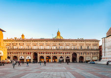 Πλατεία Maggiore στη Μπολόνια - την Αιμιλία-Ρωμανία - την Ιταλία στοκ εικόνα με δικαίωμα ελεύθερης χρήσης