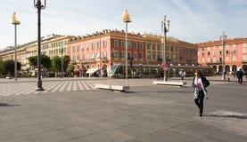 Πλατεία Massena Plaza στην πόλη της Νίκαιας, Γαλλία Στοκ φωτογραφίες με δικαίωμα ελεύθερης χρήσης