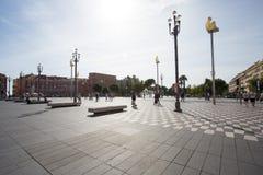 Πλατεία Massena Plaza στην πόλη της Νίκαιας, Γαλλία Στοκ Εικόνες