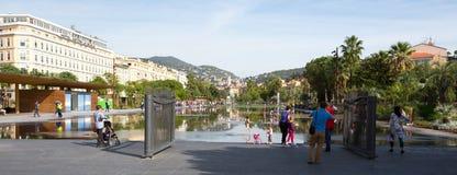 Πλατεία Massena Plaza στην πόλη της Νίκαιας, Γαλλία Στοκ Φωτογραφία