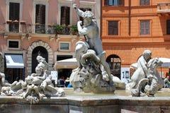 Πλατεία Navona, Ρώμη, Ιταλία, η πηγή Στοκ Εικόνες