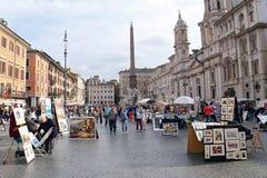 Πλατεία Navona - Ρώμη, Ιταλία Στοκ εικόνες με δικαίωμα ελεύθερης χρήσης