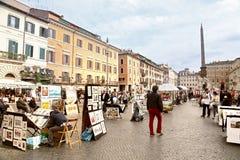 Πλατεία Navona - Ρώμη, Ιταλία Στοκ Εικόνες