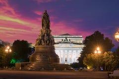 Πλατεία Ostrovskogo Ostrovsky Ploshchad στη Αγία Πετρούπολη στοκ εικόνες με δικαίωμα ελεύθερης χρήσης