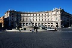 Πλατεία Repubblica, Ρώμη στο πανόραμα ημέρας Στοκ Φωτογραφίες