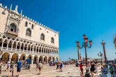 Πλατεία SAN Marco στη Βενετία, Ιταλία Στοκ φωτογραφία με δικαίωμα ελεύθερης χρήσης
