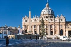 Πλατεία SAN Pietro, οβελίσκος και βασιλική του ST Peter Στοκ φωτογραφία με δικαίωμα ελεύθερης χρήσης