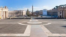 Πλατεία SAN Pietro σε Βατικανό στην εποχή Χριστουγέννων Στοκ εικόνα με δικαίωμα ελεύθερης χρήσης