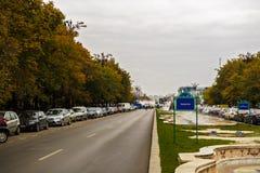 Πλατεία Unirii φθινοπώρου στο Βουκουρέστι Ρουμανία στο 24/10/2016 Στοκ Εικόνες