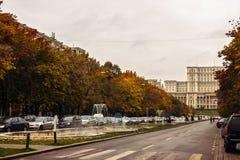 Πλατεία Unirii φθινοπώρου στο Βουκουρέστι Ρουμανία στο 24/10/2016 Στοκ φωτογραφία με δικαίωμα ελεύθερης χρήσης