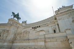 Πλατεία Venezia και Victor Emmanuel ΙΙ μνημείο στη Ρώμη Στοκ Εικόνα