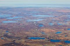Πλατφόρμα άντλησης πετρελαίου tundra, τοπ άποψη στοκ εικόνες