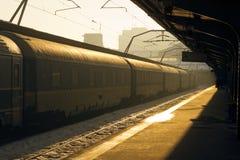 Πλατφόρμα βόρειων σιδηροδρομικών σταθμών του Βουκουρεστι'ου στοκ εικόνες