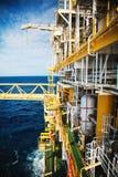Πλατφόρμα πετρελαίου και φυσικού αερίου στον κόλπο ή τη θάλασσα, η παγκόσμια ενέργεια, Ο Στοκ εικόνες με δικαίωμα ελεύθερης χρήσης