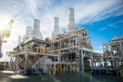 Πλατφόρμα πετρελαίου και φυσικού αερίου Στοκ φωτογραφίες με δικαίωμα ελεύθερης χρήσης