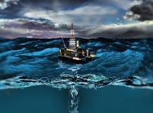 Πλατφόρμα πετρελαίου Στοκ Φωτογραφία