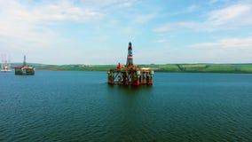 Πλατφόρμα πετρελαίου απόθεμα βίντεο