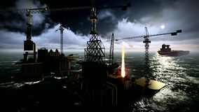 Πλατφόρμα πλατφορμών άντλησης πετρελαίου φιλμ μικρού μήκους