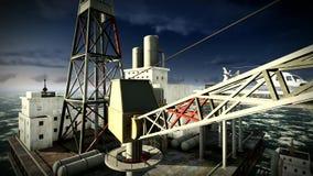 Πλατφόρμα πλατφορμών άντλησης πετρελαίου απόθεμα βίντεο