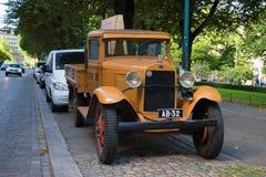 Πλατφόρμα της Ford AA φορτηγών στις οδούς της ημέρας του Ελσίνκι τον Αύγουστο Φινλανδία στοκ εικόνες με δικαίωμα ελεύθερης χρήσης