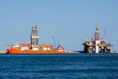 Πλατφόρμες άντλησης πετρελαίου Στοκ Εικόνα