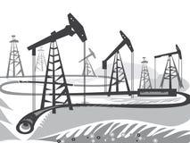 Πλατφόρμες άντλησης πετρελαίου Στοκ Εικόνες