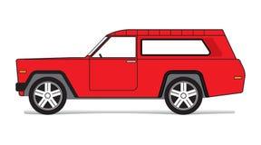 πλαϊνό κόκκινο αυτοκινήτω&n Στοκ Εικόνες
