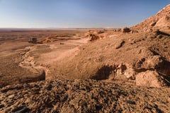 Πλαϊνό όχημα στην έρημο πετρών, Μαρόκο Στοκ εικόνα με δικαίωμα ελεύθερης χρήσης