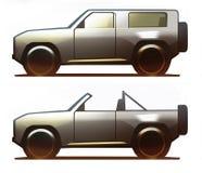 Πλαϊνό όχημα σώματος αυτοκινήτων Στοκ Εικόνα