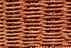 Πλεγμένη κόκκινη σύσταση καλαθιών Στοκ Φωτογραφία