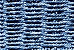Πλεγμένη μπλε σύσταση καλαθιών Στοκ Εικόνα