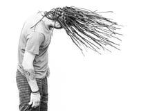 Πλεγμένος νεαρός άνδρας τρίχας Στοκ Εικόνα