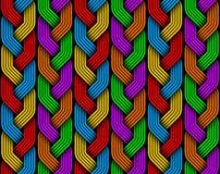 Πλεγμένο χρωματισμένο άνευ ραφής σχέδιο ινών πλεξίδων Διανυσματικό illustra Στοκ φωτογραφία με δικαίωμα ελεύθερης χρήσης