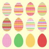 Πλεκτά αυγά για Πάσχα Στοκ Φωτογραφία
