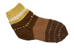πλεκτή κάλτσα Στοκ εικόνα με δικαίωμα ελεύθερης χρήσης