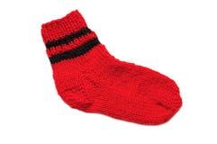 πλεκτή κάλτσα Στοκ φωτογραφία με δικαίωμα ελεύθερης χρήσης
