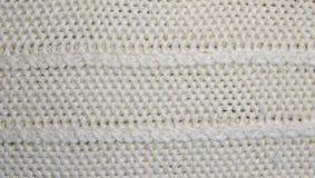 Πλεκτή μάλλινη σύσταση πλεκτό πρότυπο Στοκ Εικόνες