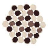 Πλεκτός χρωματισμένος τάπητας στοκ εικόνα με δικαίωμα ελεύθερης χρήσης