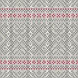 Πλεκτό άνευ ραφής γεωμετρικό σχέδιο Στοκ Εικόνες