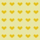 Πλεκτό άνευ ραφής σχέδιο καρδιών ελεύθερη απεικόνιση δικαιώματος