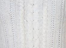 Πλεκτό άσπρο πουλόβερ Υπόβαθρο Στοκ φωτογραφίες με δικαίωμα ελεύθερης χρήσης