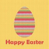 Πλεκτό αυγό Πάσχας Στοκ Εικόνες