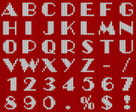 Πλεκτό αλφάβητο Χριστουγέννων Στοκ Φωτογραφία