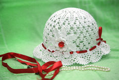 Πλεκτό θερινό καπέλο Στοκ φωτογραφία με δικαίωμα ελεύθερης χρήσης