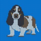 Πλεκτό διάνυσμα σχέδιο σκυλιών Στοκ φωτογραφία με δικαίωμα ελεύθερης χρήσης
