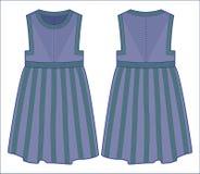 Πλεκτό μπλε φόρεμα Στοκ Εικόνα