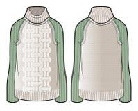 Πλεκτό πουλόβερ με τα μανίκια αντίθεσης Στοκ Εικόνα