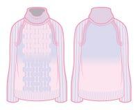 Πλεκτό πουλόβερ με την κλίση Στοκ εικόνα με δικαίωμα ελεύθερης χρήσης