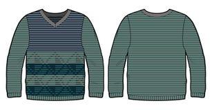 Πλεκτό πουλόβερ με το σχέδιο Στοκ εικόνα με δικαίωμα ελεύθερης χρήσης